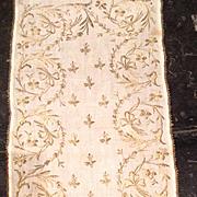 19 th century Turkish, Ottoman embroidered panel.