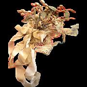 Wedding bouquet.Wax flowers.  Circa 1900.