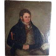 Early 19th century English school oil on canvas , portrait of a portly gentleman.