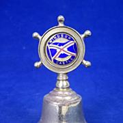 Union Castle RMS Windsor Castle Liner Nautical Table Bell c1960
