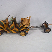 Gotz and son German Clockwork Staff Car & Light Anti-Tank Gun