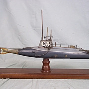 c1910 Period Model Of The Royal Navy Submarine C4