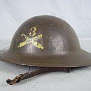 British 1917 Machine Gun Corps Officers Brodie Helmet With Liner