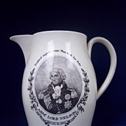 Creamware Jug Commemorating the Death of Nelson and The Victory at Trafalgar, c. 1805