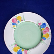 Clarice Cliff Royal Staffordshire 'Spring Crocus' Pattern Tea Plate
