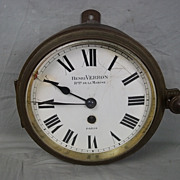 c1890 Henri Verron Ship's Bulkhead Clock