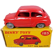 Dinky Toys 183 Fiat 600 Red Boxed 1958-61