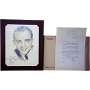 Signed Bing Crosby Photo and Letter, Dated 1934