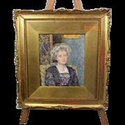 Portrait Of An Edwardian Lady By Lionel Percy Smythe, RA RWS RI ROI