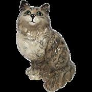 Rare Beswick Grey Swiss Roll Pattern Persian Cat No. 1867 Designed by Albert Hallam