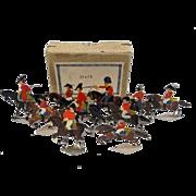 c1900/20 British Staff Vintage Tin Flats 10 Pieces. Boxed
