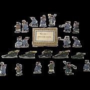 "c1900/20 ""Napoleon I Artillery Capote"" Vintage Tin Flats 22 Pieces. Boxed"