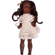 SFBJ French Made Black Bisque Doll c1910