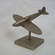WW2 Period Steel Model Of A Spitfire