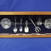 Collection of Enamel Ships Spoons & Ashtrays - HMS Hood, Rodney, Furious, Calypso, Carlisle, .