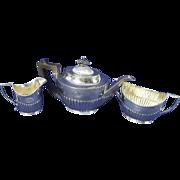 A George V Silver Three-Piece Tea Set Sheffield 1917/18 Mappin & Webb