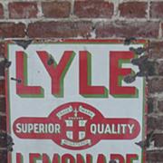 Lyles Ginger Beer Enamel On Steel Advertising Sign
