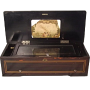A Late 19th Century Swiss Cylinder Musical Box With 77 Tines & 8 Airs