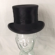 Vintage British Cash & Co Brushed Silk Top Hat