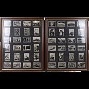 "Framed Full Set Of Original 48 Pattreiouex ""The Navy"" Cigarette Cards 1939"
