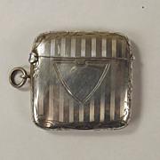 Sterling Silver Engraved Vesta Case, Birmingham 1913, 28.8 g