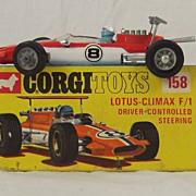 Boxed Corgi 158 Lotus Climax F1 1968-72 MIB