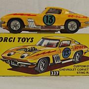 Boxed Corgi 337 Chevrolet Stock Car Sting Ray 1967-69 MIB