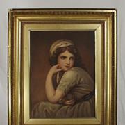 Fine Circa 1810 Watercolour Of Emma Hamilton - Lord Nelsons Mistress
