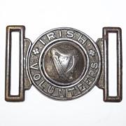 Very Rare Irish Volunteers Belt Buckle, Post Michael Collins