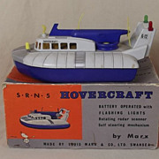 Boxed SRN5 Hovercraft Circa 1960 Toy By Marx