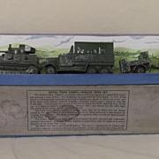 Boxed Pre-War Dinky 151  Royal Army Tank Corp Medium Tank Set