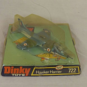 Boxed Dinky 722 Hawker Harrier 1970-80