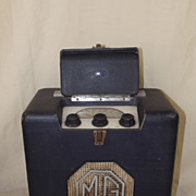 SOLD Original MG Cars 1940's Portable Valve Radio by Roberts Radio in Working Condition