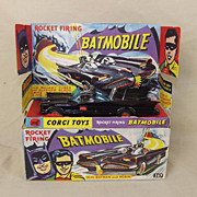Corgi 267 Batmobile With Batman & Robin, First Issue In Gloss Black