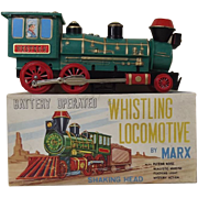 Circa 1970 Marx Battery Operated Whistling Locomotive