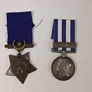SOLD British Victorian Egypt Campaign Medal Pair - East Surrey Regiment