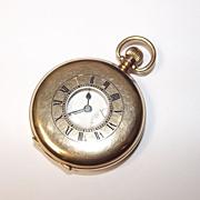 1927 Half Hunter 9 Ct Gold Pocket Watch