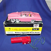 Boxed 1965 Lady Penelopes Fab 1 JR 21 Battery Operated Toy