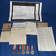 WWII WIA Military Medal Group South Lancashire & Original Documents