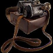 Cased French WWII Era Favorita Binoculars x8 Magnification