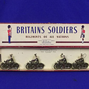 Boxed ROAN Britains Set 1791 - Royal Corps of Signals Dispatch Riders Post War