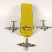Dinky No.732/70E 3x Meteor Twin-Jet Fighter Trade Box