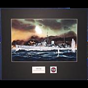 Airfix Original Artwork Cibachrome Print of HMS Ajax