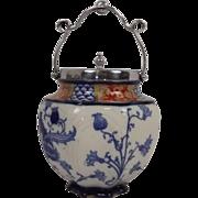 William Moorcroft For James MacIntyre Aurelian Ware Biscuit Barrel, c.1900