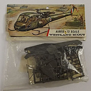 Sealed Airfix 1/72nd Scale Aircraft Series 1 - Westland Scout - Type 3 (Bagged Kit) 1963