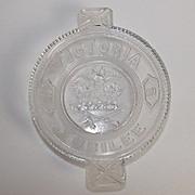 1887 Victorian Flint Glass Dish For Queen Victoria's Golden Jubilee