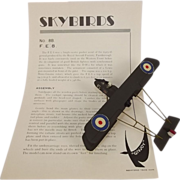 Givejoy Toys Skybirds 1/72nd Scale Aircraft F.E. 8 Fighter  No.8B Made 1935-42