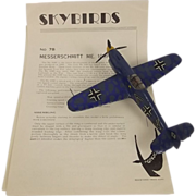Givejoy Toys Skybirds 1/72nd Scale Aircraft No.7B Model Messerschmitt Me.109F Made 1935-42