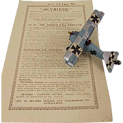 Givejoy Toys Skybirds 1/72nd Scale Aircraft Fokker D.R.1 Triplane In Blue (No ...