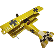 Givejoy Toys Skybirds 1/72nd Scale Aircraft Fokker DR1 Yellow Triplane Made 1935-42